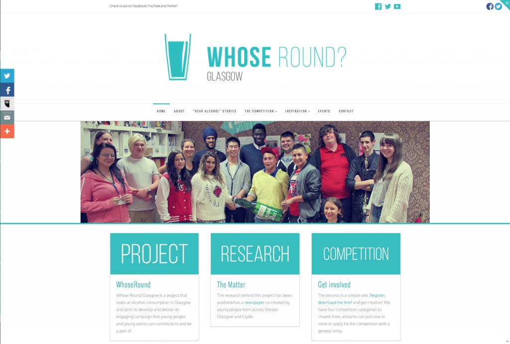 Whose Round website screen shot