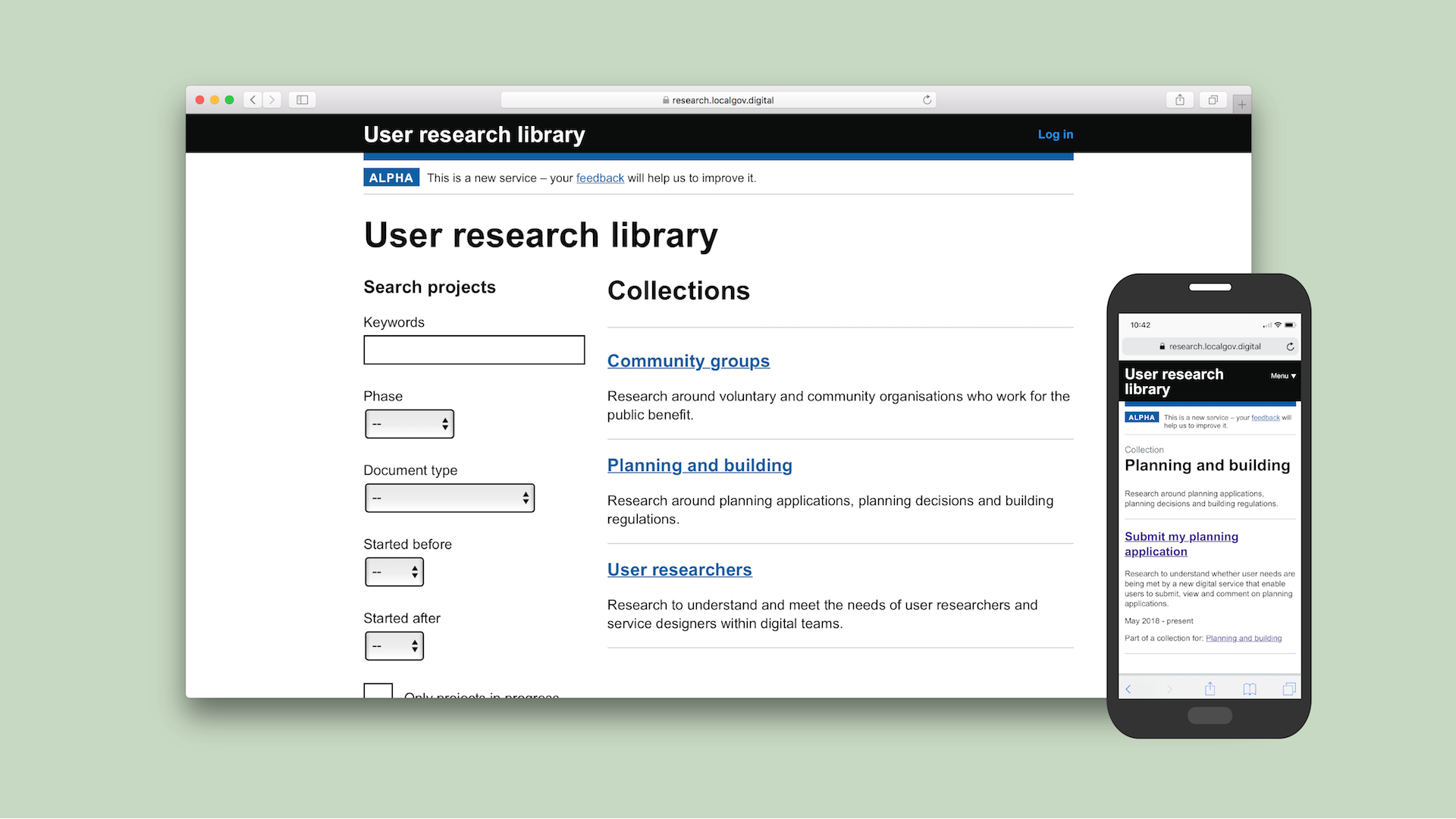 User research library