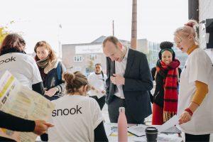 Snook volunteers checking people in at DOTI Fest 2019