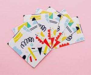 Fan of folded flyers