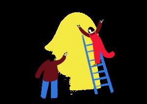 Illustration representing team work.